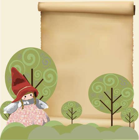 작은 빨간 모자 배경