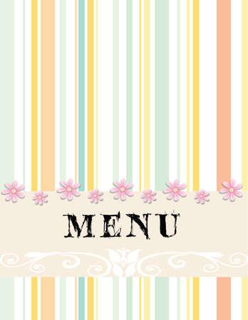eenvoudig en mooi menu-ontwerp Stock Illustratie