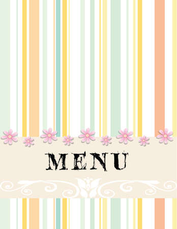 simple and lovely menu design  Vector
