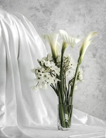 courtain: White flower