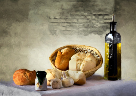 bred: Bred whit olive oil Stock Photo