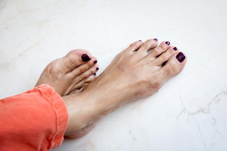 women s feet: Part of female body