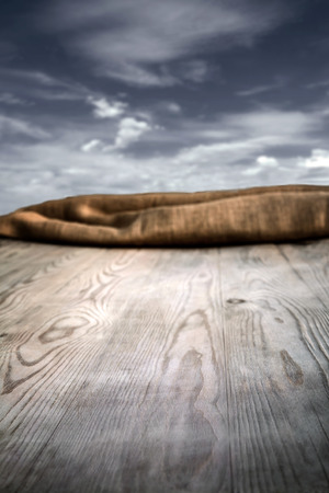 Wooden table with background and texture