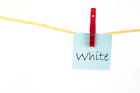 note paper: Note paper with the word white Stock Photo