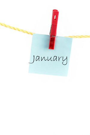 adhere: Note paper with months of the year