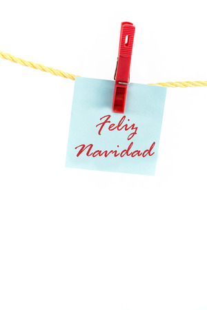 note paper: Note paper with the word feliz navidad