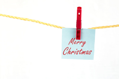 note paper: Note paper with the merry christmas Stock Photo