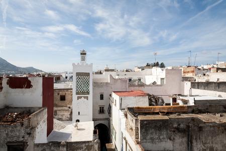 street in the old medina of Tetouan in Morocco