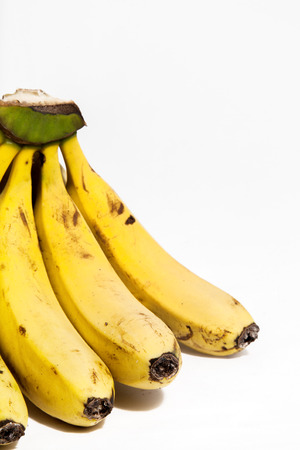 Bunch of bananas isolated on white Imagens