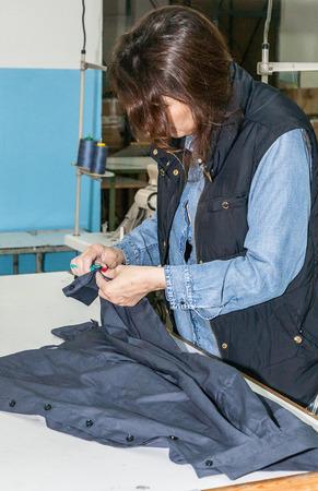 machine operator: Industrial sewing machines sewing machine operator with chain