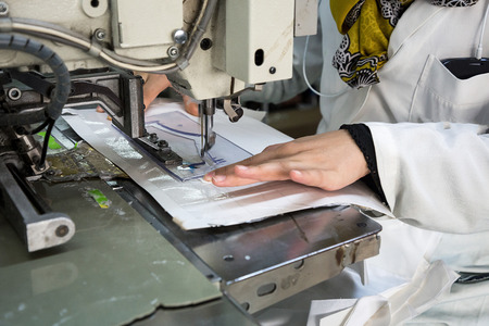 machines: Industrial sewing machines sewing machine operator with chain