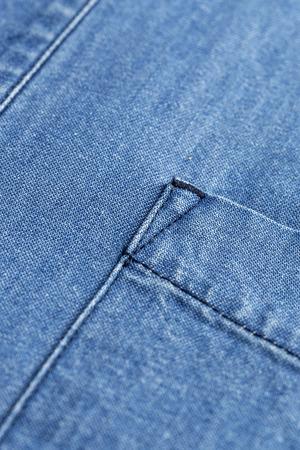Mens fashion shirts. Clothing details.Jeans Stock Photo