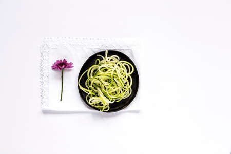Fresh zucchini on a white background.Isolated Stock Photo