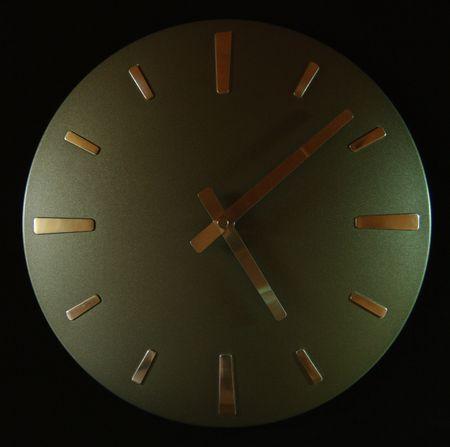 mediodía: reloj de tiempo mediod�a macro Foto de archivo