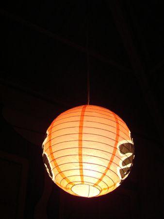 rotund: red round lamp  Stock Photo