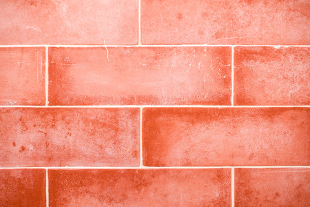 red wall: red brick wall