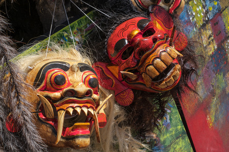 Balinese Topeng masks used for performance arts and rituals