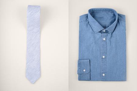 mens fashion: Mens fashion set - shirt and tie