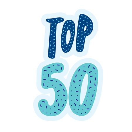 Top 50 bannière vecteur lettrage Banque d'images - 83011106