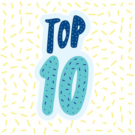 Top 10 des lettres de vecteur de bannière Banque d'images - 83011112