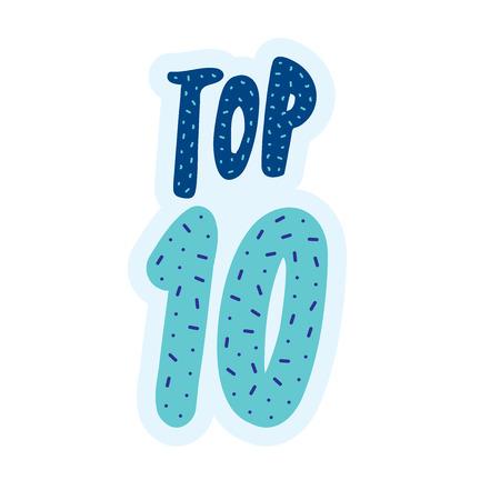 Top 10 bannière typographique Banque d'images - 82973445