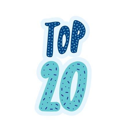 Top 20 bannière typographique Banque d'images - 82973425