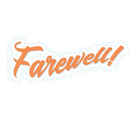 ¡Despedida! banner tipográfico