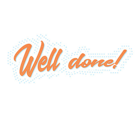 Well done!  typographic banner