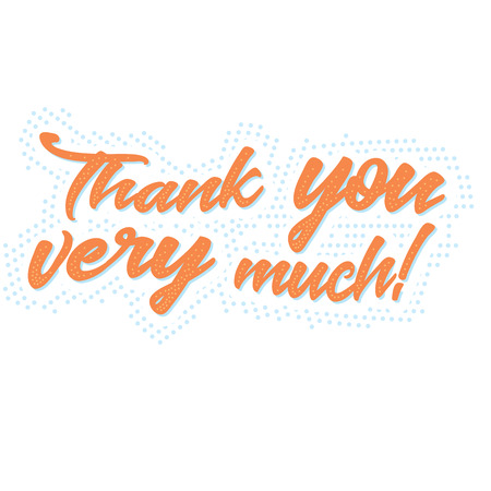 Thank you very much!  typographic banner