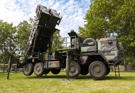 patriot: german antiaircraftrocketsystem  patriot in attack position