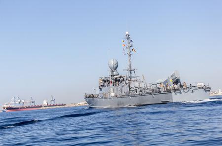 warship: back from german navy warship