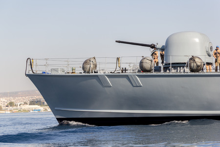 decommissioning: cannon of a german navy speedboat