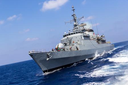 warship drives in mediterran sea Editorial
