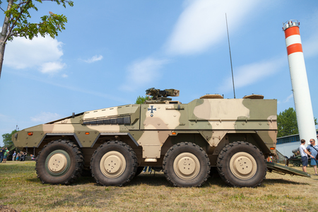 armored: german armored personnel carrier  gtk boxer Editorial