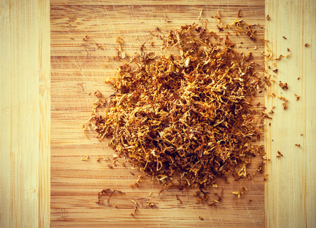 tubing: tubing tabacco on wood