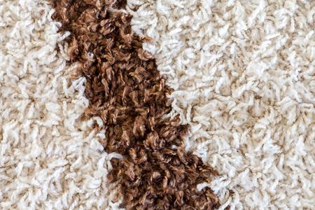 brown stripe: white carpet with a brown stripe texture