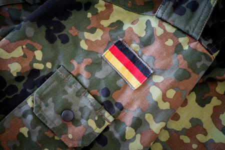 german flag on german military jacket