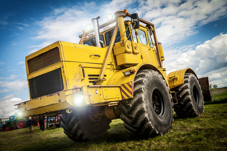 farm duties: russian k 700 tractor Stock Photo