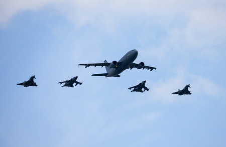 luft: BERLIN  GERMANY - MAY 2014: german military planes and attack jets on the ILA ( Internationale Luft- und Raumfahrtausstellung) Berlin Air Show in berlin at may 2014. Editorial