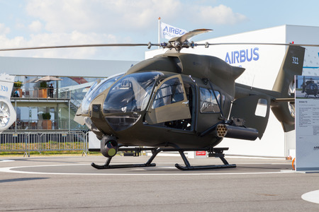 luft: BERLIN  GERMANY - MAY 2014: german  H145M  from airbus on the ILA ( Internationale Luft- und Raumfahrtausstellung) Berlin Air Show in berlin at may 2014.
