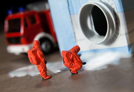 hazardous material team: chemical accident with milk