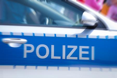 light duty: german police car door Stock Photo
