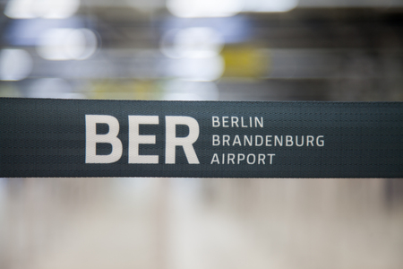 willy: Berlin Brandenburg Airport barrier bound on an airport