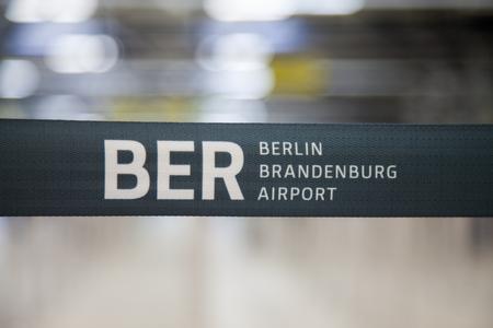 willy: Berlin Brandenburg Airport barrier bound on an airport