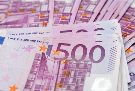 billets euro: cinq cents billets en euros