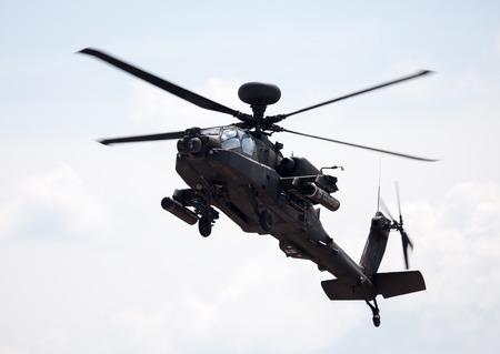 shuttleworth: BERLIN  GERMANY - JUNE 3, 2016: Boing AH-64 Apache flights on airport schoenefeld, berlin  germany at june 3, 2016 Editorial