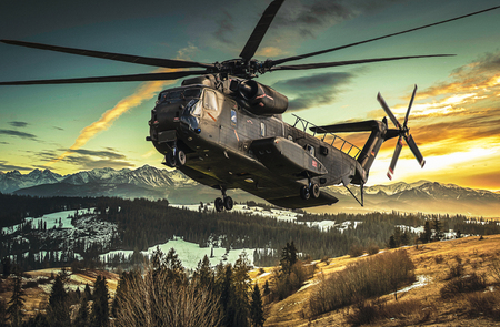 heavy: german heavy lift transport helicopter