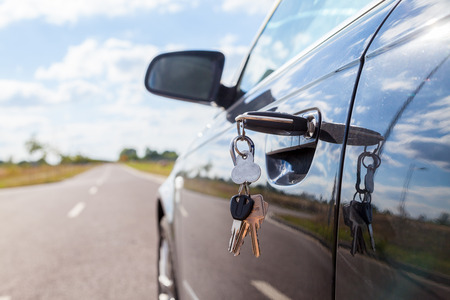 car lock: car key on car lock