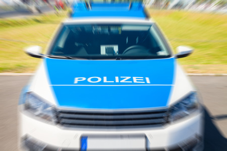 the traffic movement police: german police car