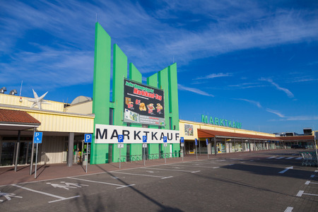 BURG  GERMANY - NOVEMBER 13, 2016: Entry of a Marktkauf, a discount supermarket chain based in Germany. Marktkauf GmbH is one of the largest German trading companies and part of the Edeka Group. Editorial